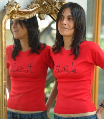 Love / Hate Reflection Shirt