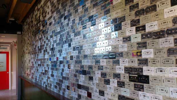 Wall of Cassette Tapes, The Windsor