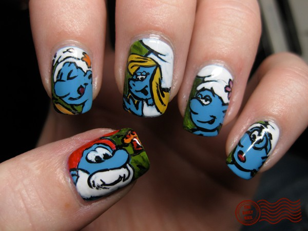 Smurftastic Nails
