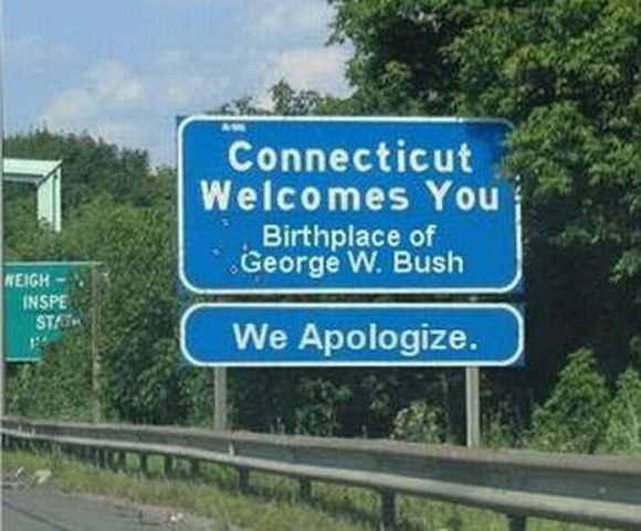 Funny Welcome to Connecticut Sign