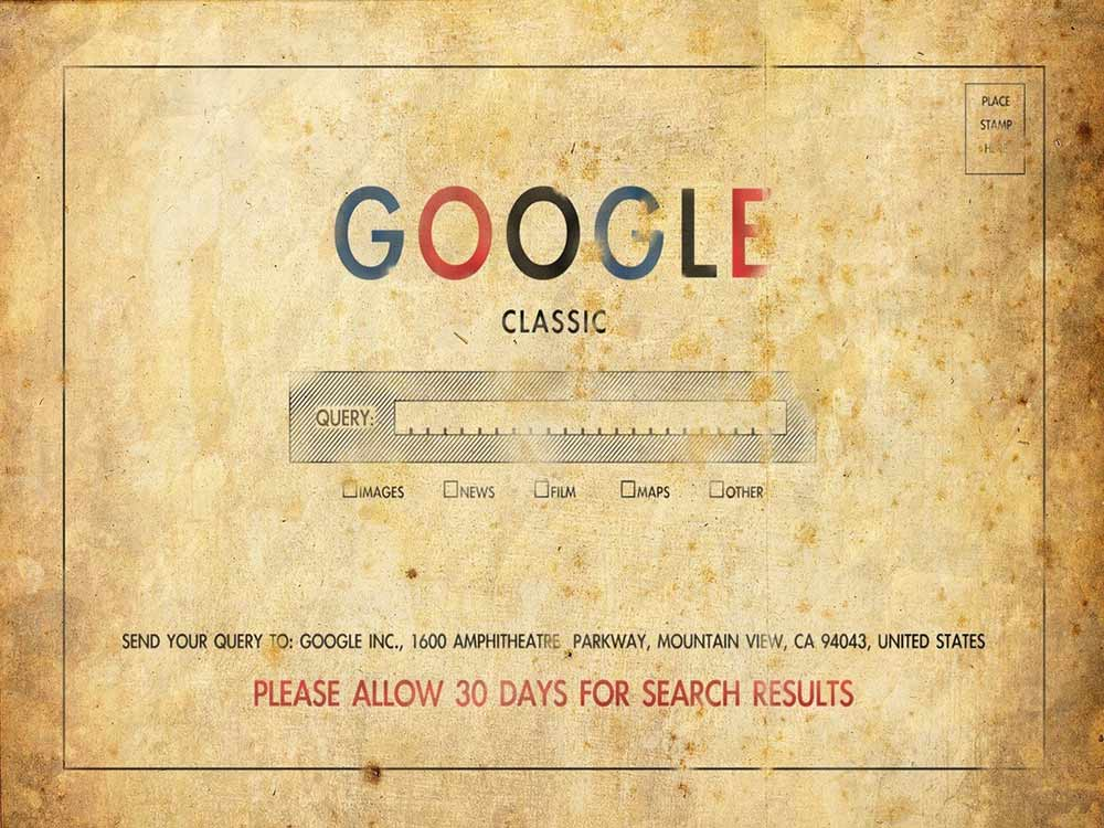 Google Classic Postcard – Please Wait 30 Days for Results