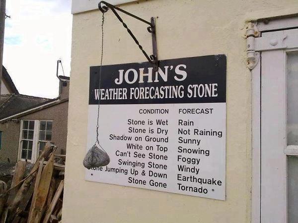 John's Weather Forcasting Stone