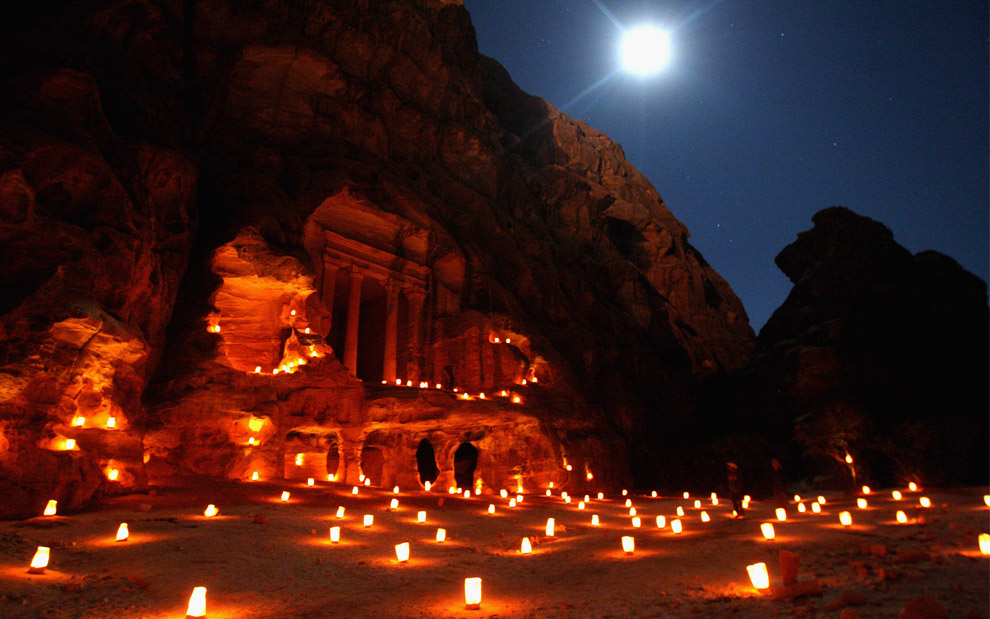 Petra at Night, Illuminated with Candles