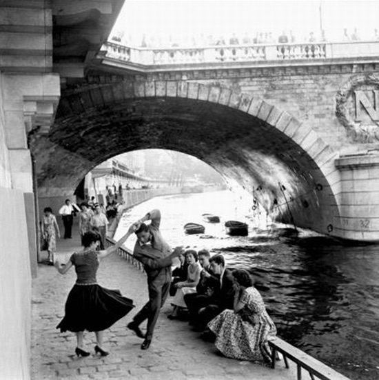 Dancing on the river bank