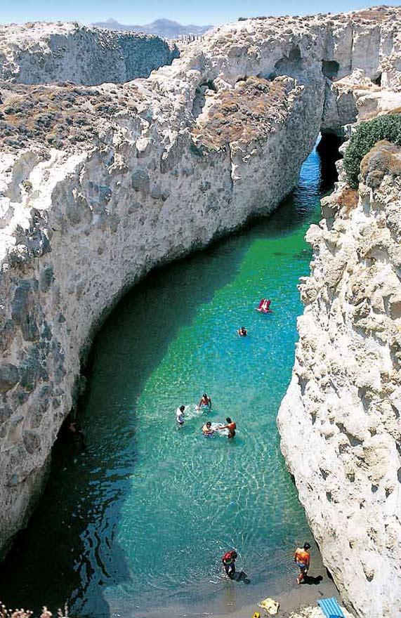 Sea Caves of Papafragas, Milos, Cyclades, Greece