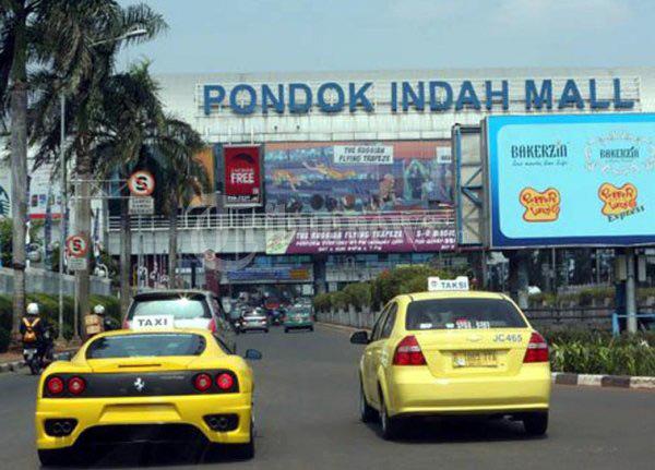 Ferrari Taxi in Jakarta