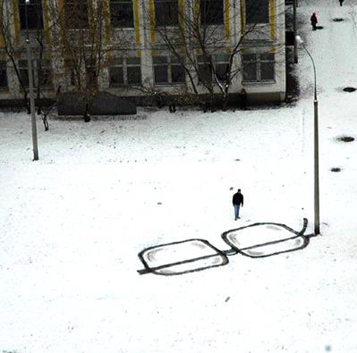 Glasses in the Snow