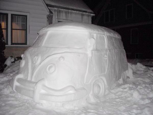 VW Snow Camper